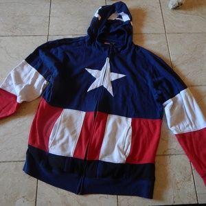 Marvel, Captain America Sweatshirt with Hoody Mask